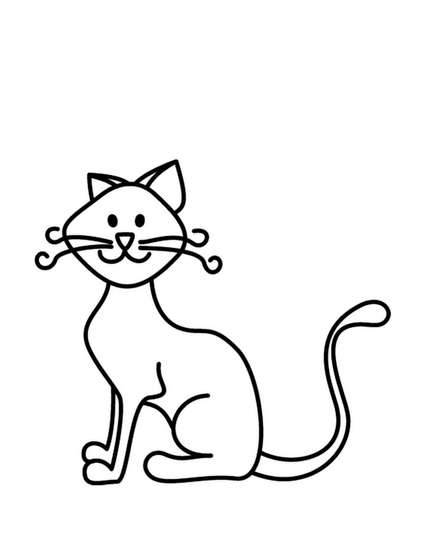 Gato Con Bigotes Para Colorear Sr Bigotes De Gatos