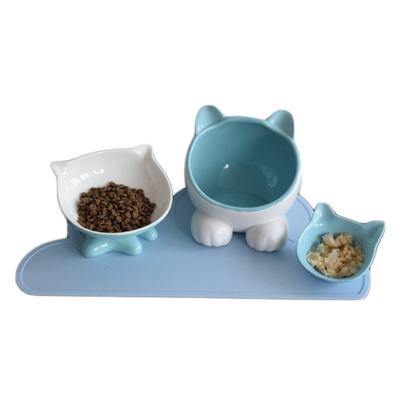 Los platos de porcelana son más estables y menos probables que tu gato los tire